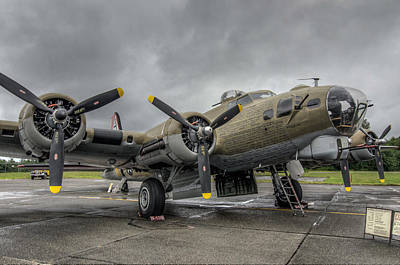 Plane Photograph - B17 Bomber by Puget  Exposure