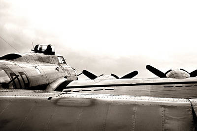 Photograph - B17 Bomber Wing From Ww II by M K Miller