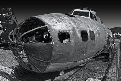 Photograph - B17 Derelict Airplane - 02 by Gregory Dyer