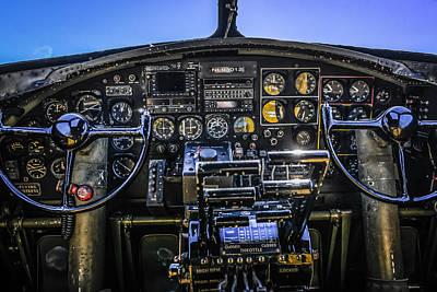 Flightdeck Photograph - B17 Flightdeck by Chris Smith
