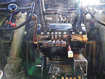 Photograph - B-17 Flying Fortress Cockpit by Joe Duket