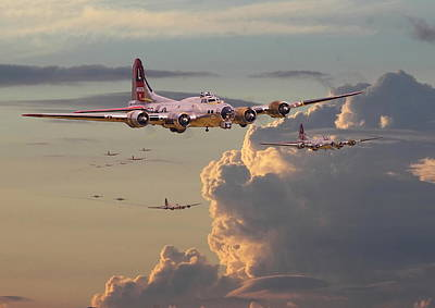 B17 Photograph - B17 - Just Another Day by Pat Speirs
