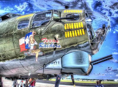 Flight Photograph - B17 Texas Raiders V1 by John Straton