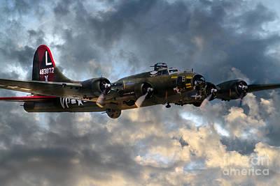 Military Digital Art - B17 Tribute by J Biggadike