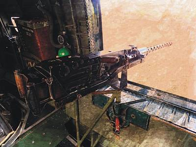 Photograph - B-17 Waist Gun by Joe Duket