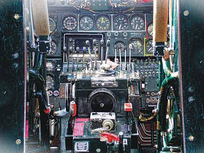 Photograph - B-24 Liberator Cockpit by Joe Duket