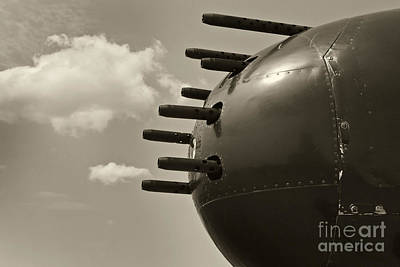 Photograph - B25 Mitchell Bomber Airplane Nose Guns by M K Miller