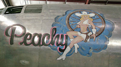 Photograph - B29 Superfortress Nose Art Peachy by Ken Smith