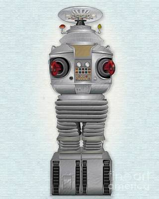 Science Fiction Mixed Media - B9 Robot-lost In Space by Michael Lovell