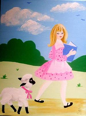 Painting - Baa Baa Black Sheep by Anne Gardner