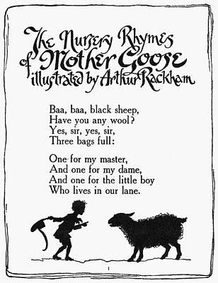 Baa, Baa, Black Sheep Print by Granger