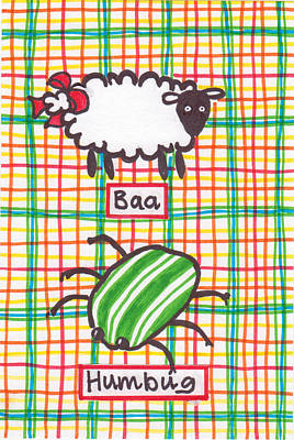 Drawing - Baa Humbug by Julie  Hutchinson