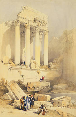 Remains Painting - Baalbec by David Roberts