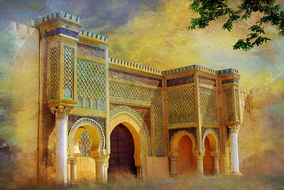 Essaouira Painting - Bab Mansur by Catf