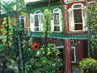 Baba Painting - Baba Nonya House by Belinda Low
