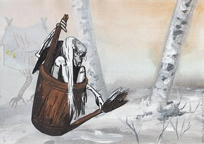 Goddess Painting - Baba Yaga by Stacey Austin