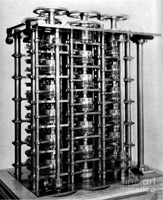 Photograph - Babbages First Difference Engine by Science Source