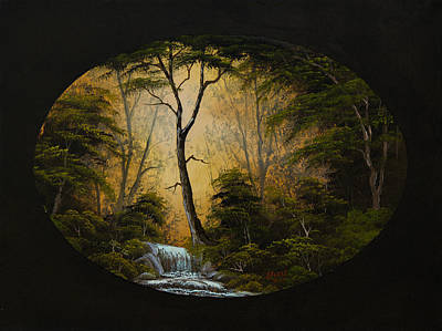 Steele Painting - Forest Brook by Chris Steele