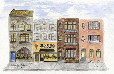 Painting - Babbo @ Waverly Place by AFineLyne