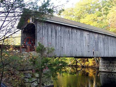 Babbs Covered Bridge In Maine Art Print by Catherine Gagne