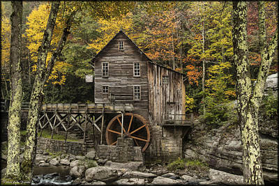 Photograph - Babcock Grist Mill by Erika Fawcett