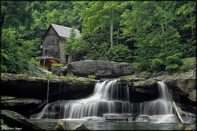 Photograph - Babcock Grist Mill Summer by Erika Fawcett