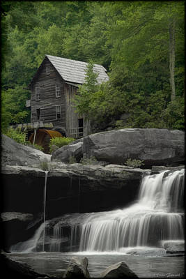 Photograph - Babcock Grist Mill Watercolor by Erika Fawcett