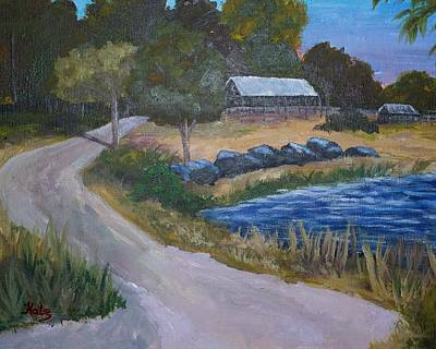 Punta Gorda Painting - Babcock Ranch Webb Lake by Kathy Przepadlo