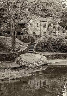 Grist Mill Photograph - Babcock Sepia  by Steve Harrington