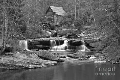 Photograph - Babcock State Park Black And White by Adam Jewell
