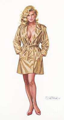 Babe In Trenchcoat Art Print