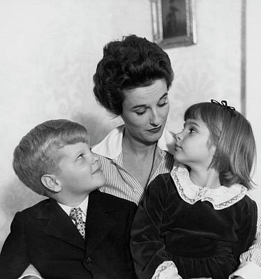 Babe Paley And Her Young Children Art Print