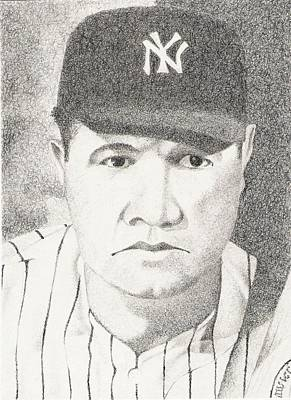 Babe Ruth Drawing - Babe by Paul Smutylo