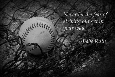Photograph - Babe Ruth Baseball by Kelly Hazel