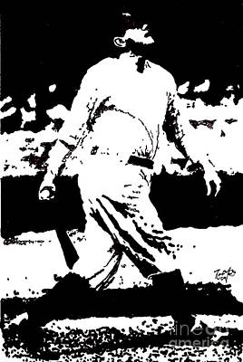 Yankees Drawing - Babe Ruth Drawing by Rob Monte