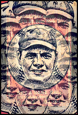 Babe Ruth Baseball Card Photograph - Babe Ruth by Kerry Gergen