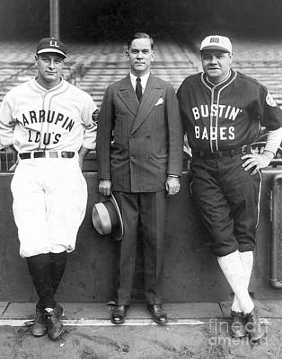 Lou Gehrig Photograph - Babe Ruth Lou Gehrig Christy Walsh by MMG Archives