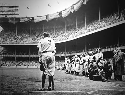 Yankees Photograph - Babe Ruth Poster by Gianfranco Weiss