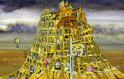 Babel Art Print by Colin Thompson