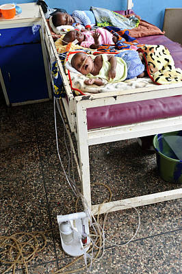 West Africa Photograph - Babies In Hospital by Matthew Oldfield