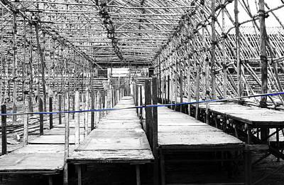 Photograph - Babmoo Structure 2 Blue Wire by Sumit Mehndiratta