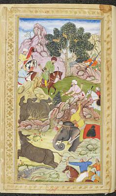 Aristocrat Photograph - Babur And His Retinue by British Library