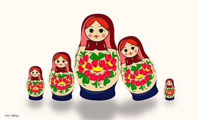 Babushka Digital Art - Babushka 2 by Mark Ashkenazi