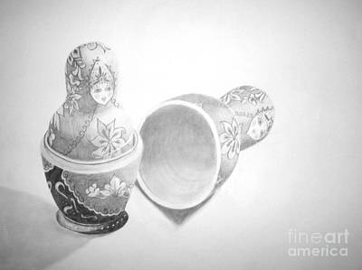 Babushka Drawing - Babushka by Tamir Barkan