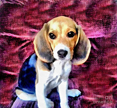 Painting - Baby Beagle Puppy by Scott B Bennett