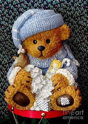 Baby Bear Ready For Christmas Art Print