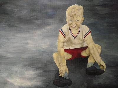 Toddler Painting - Baby Bill  by Mary Ellen Anderson