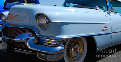 Photograph - Baby Blue Caddy by Mark Spearman