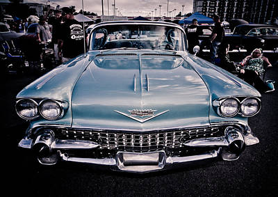 Photograph - Baby Blue Cadillac by Merrick Imagery