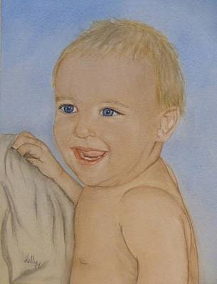 Painting - Baby Blue Eyes by Kelly Mills